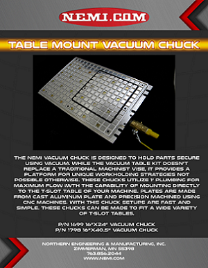 Table Mount Vacuum Chuck Flyer Link